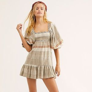 Free people all lined up mini dress NWT